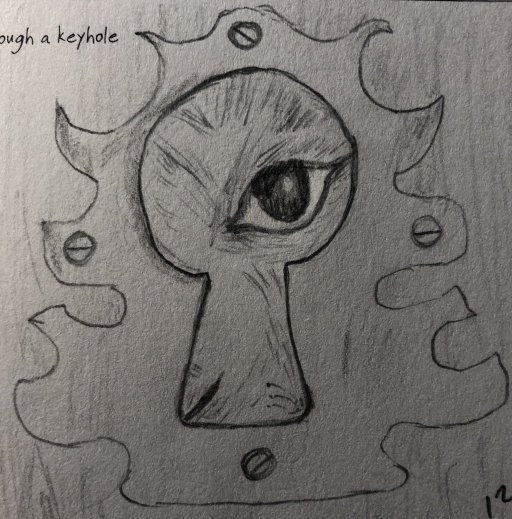 Eye – Looking Through a Keyhole I drew this picture as a prompt a couple of years ago. Today I