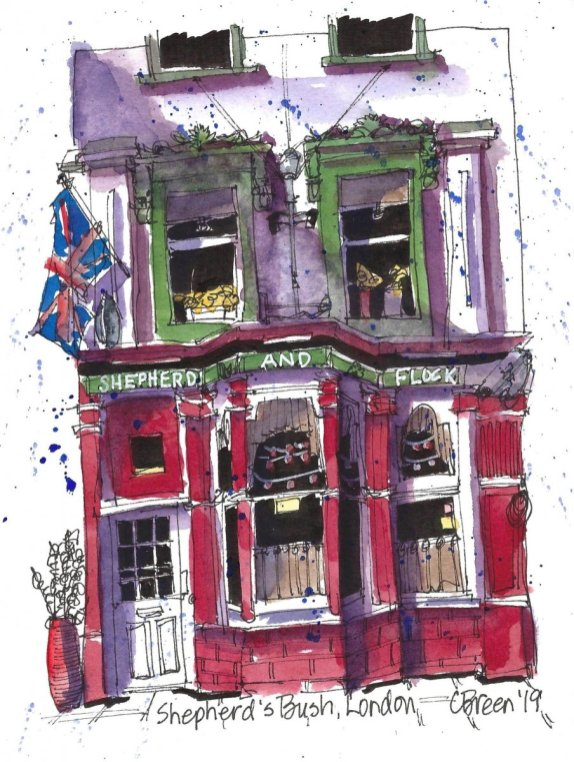 Shepherds Bush London Drawing