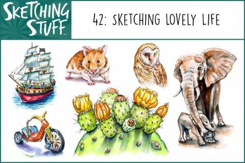 Sketching Stuff Episode 42 Sketching Lovely Life Album Art