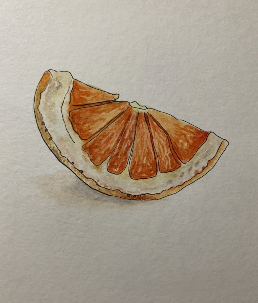 I just had a bit of time to create this grapefruit wedge. grapefruit