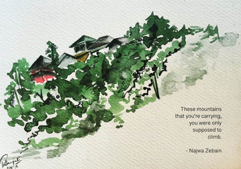 Houses and Trees Watercolor Painting 12 Life Lessons Patanjali Bhati