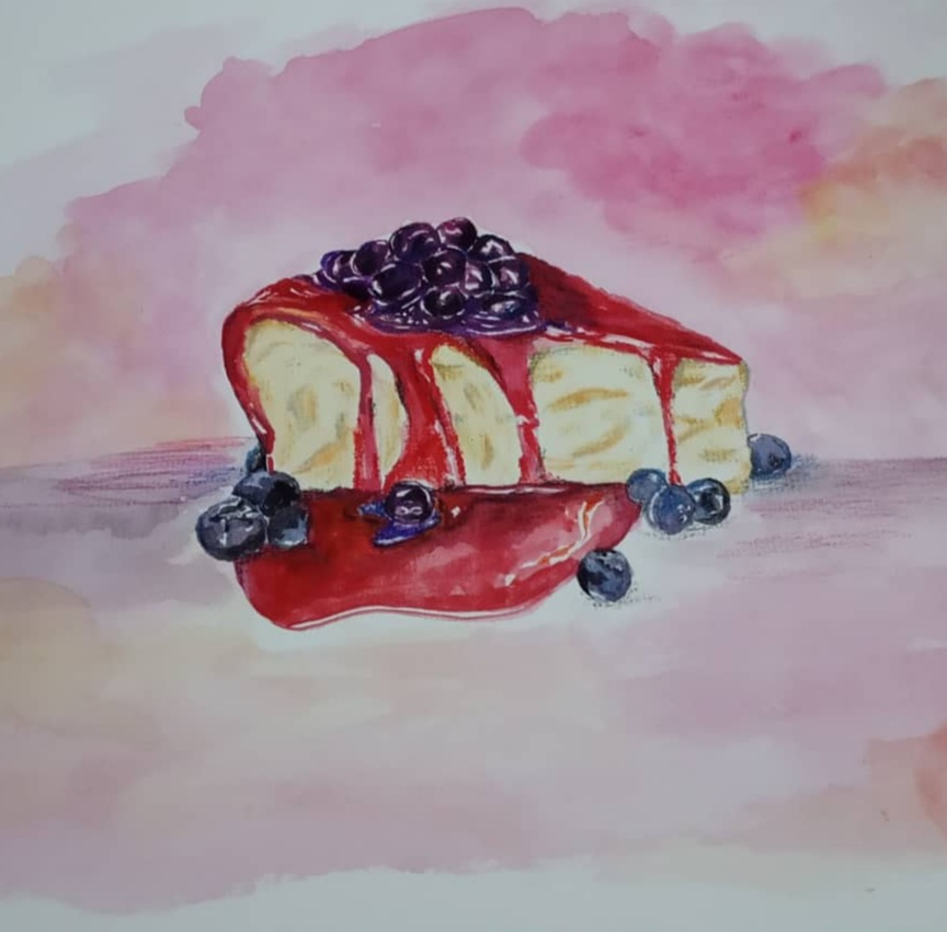 Doodlewash day4 Watercolor try on dessert #doodlewashfebruary2020#worldwatercolorgroup IMG_20200204_