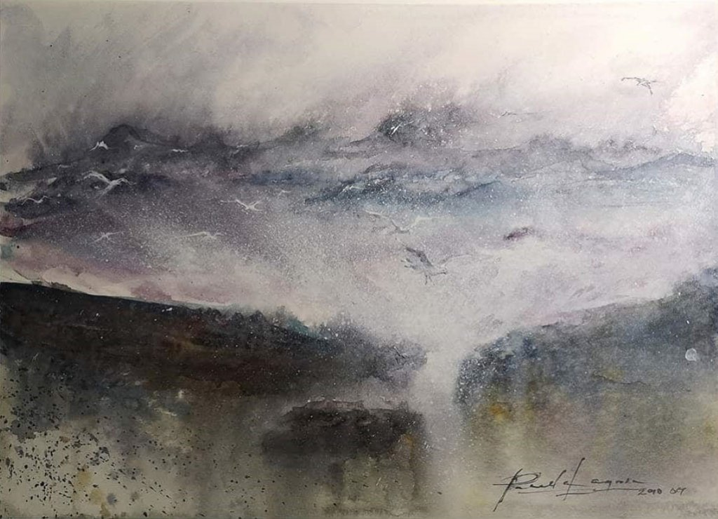 Original_Raging Waters Watercolor Pamela Lagrosa