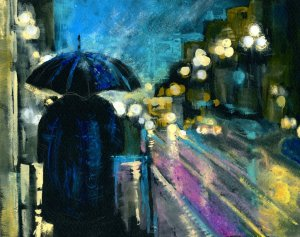 Rain and Reflections – Bright lights dancing to the music of the rain. To splashing feet, sync