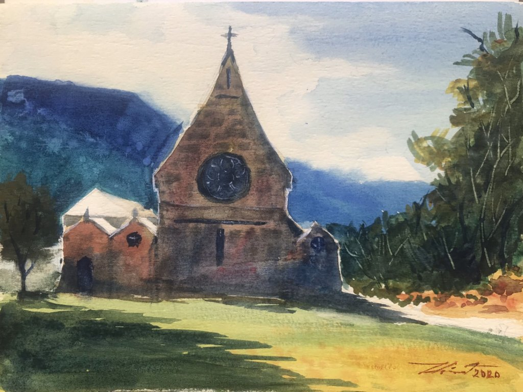 Name : St.Mary and St.Finnan Church, Scotland. Technique : W&N cotman on 100% cotton paper . Siz