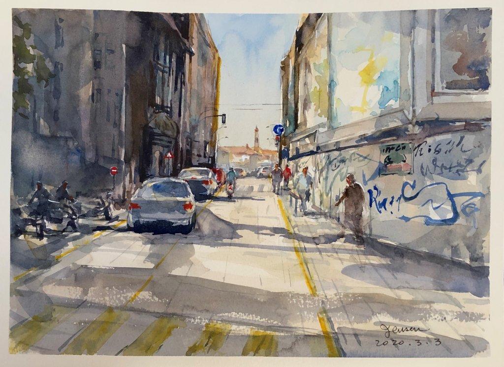 2020-3-3 A street scene in Spain