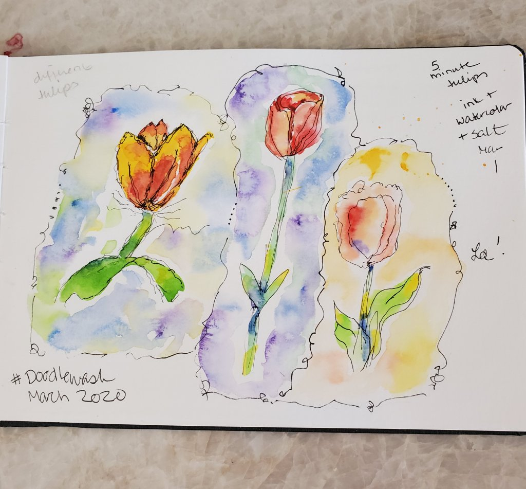 #DoodlewashMarch2020 March 1: Tulips 20200315_114718