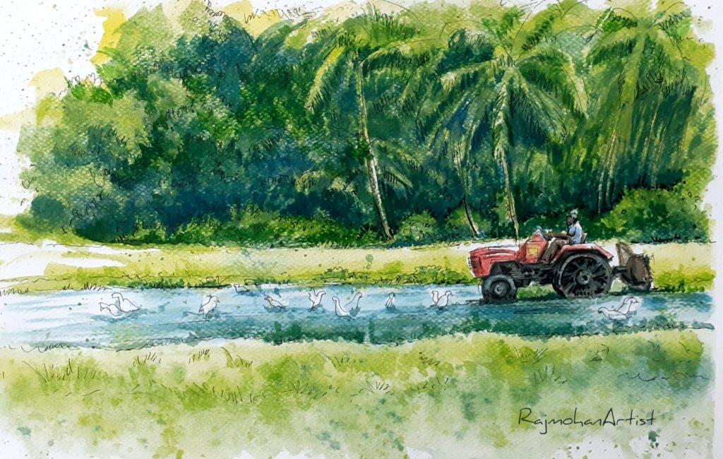 Pen and watercolors… #rajmohanartist 20200320_191830