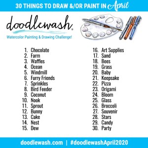 Drawing Sketching And Painting Prompts Doodlewash April 2020