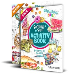 Sketching Stuff Activity Books Covers Nature Food