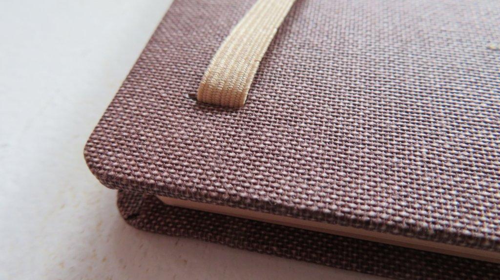 Sketchbook strap close up