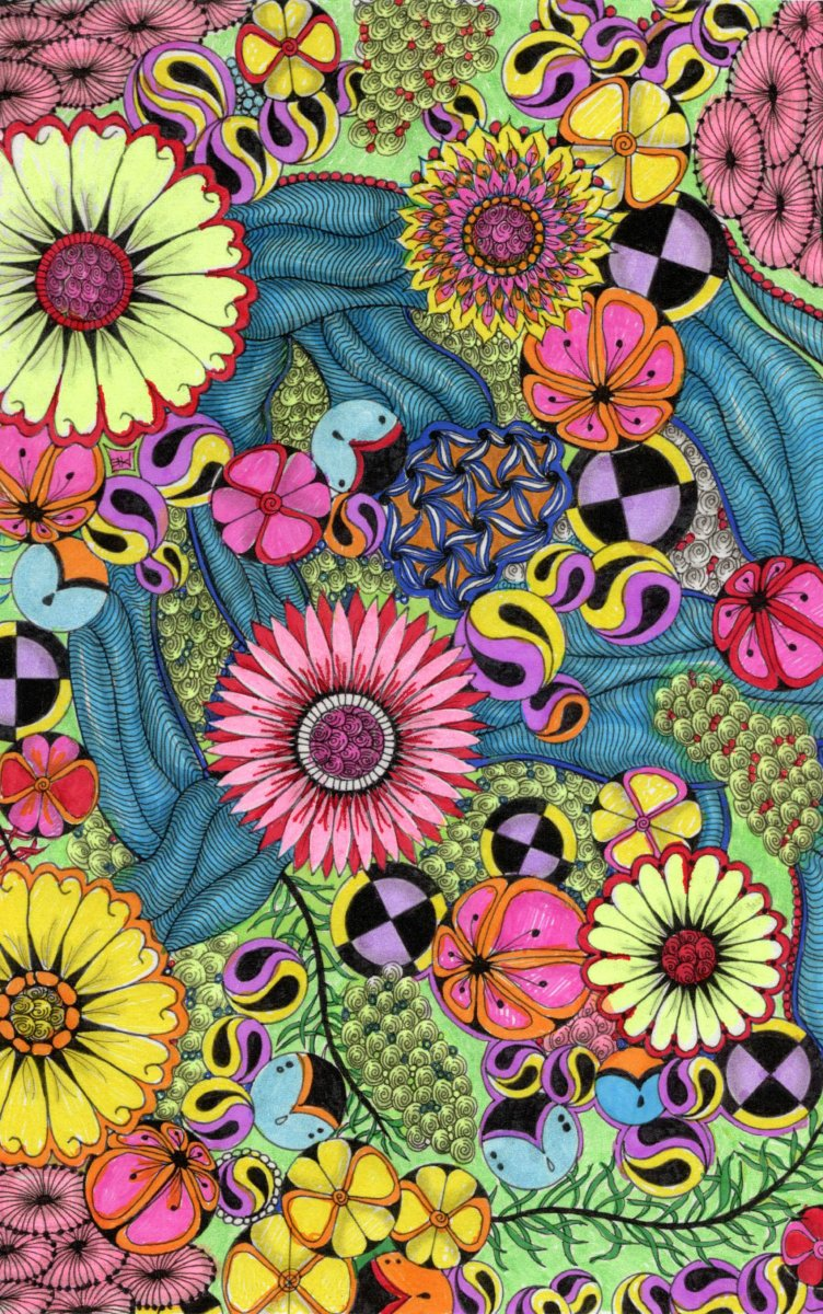 Zentangle Color Patterns Example