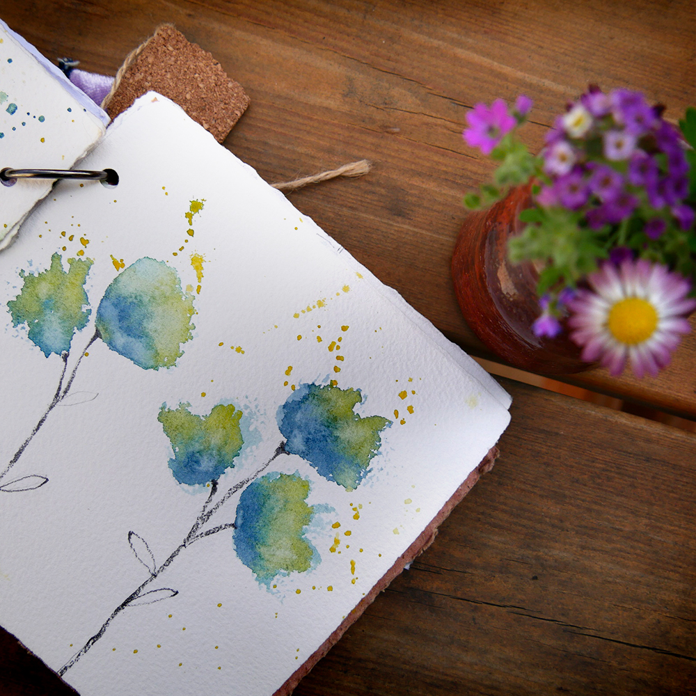 Saddle up and ride your pony — and watch flowers around ||| I've made some watercolor sk