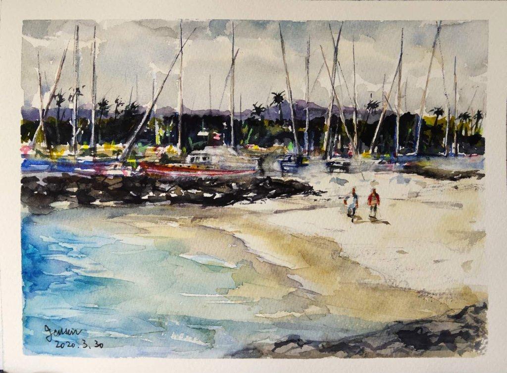 2020-3-27 Spain series-5 Cancun2020-3-30 Kahanamoku Beach -Hawaii 卡哈納莫庫海灘