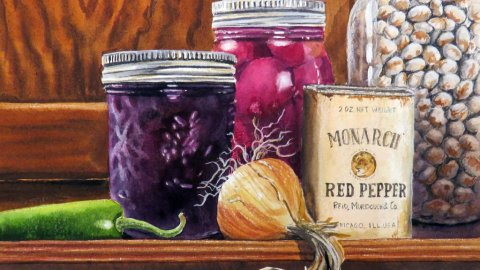 Chery Johnson Watercolor Painting Monarch Red Pepper
