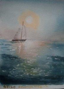 Day 4 # ocean # watercolour # doodlewash april2020 IMG-20200306-WA0031~2