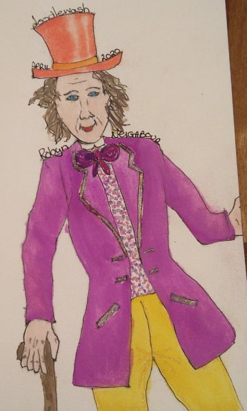 Willy Wonka #watercolorworldgroup #doodlewashapril2020 IMG_20200401_225030IMG_20200401_225047IMG_202