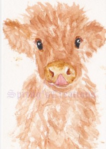 Day 87 of 100 days of hearts. Yes they are there. I love baby cows i think they are so cute so when