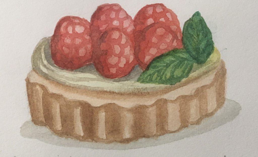 Day 15 raspberry tart BCDE2D7B-5982-43B7-AF5C-A5EBF052998D