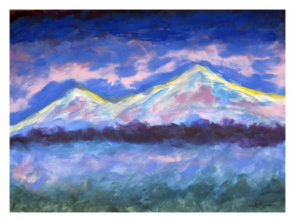 Blue Ararat 65x48cm b