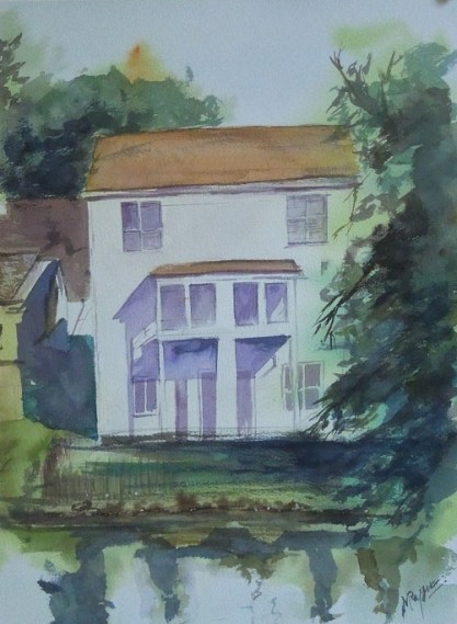 House On Watercolor Watercolor Painting