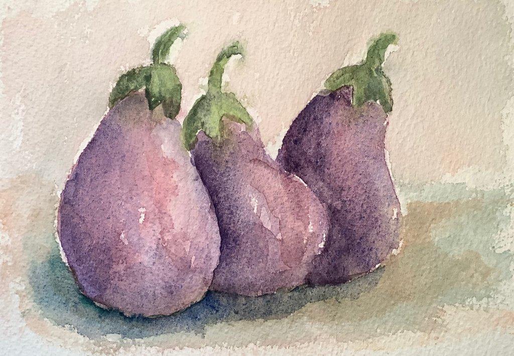 #doodlewashmay2020 day 23: eggplant IMG_1831
