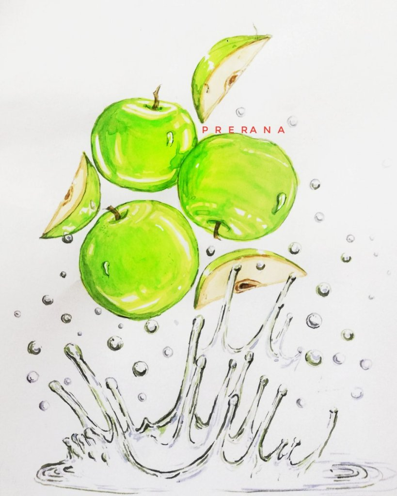 Theme- Green Apples🍏Had so much fun painting this one. IMG_20200521_122408_878IMG_20200521_1