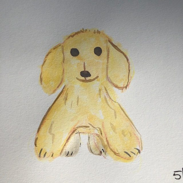 A try at golden retriever puppy 🙂 IMG_4941