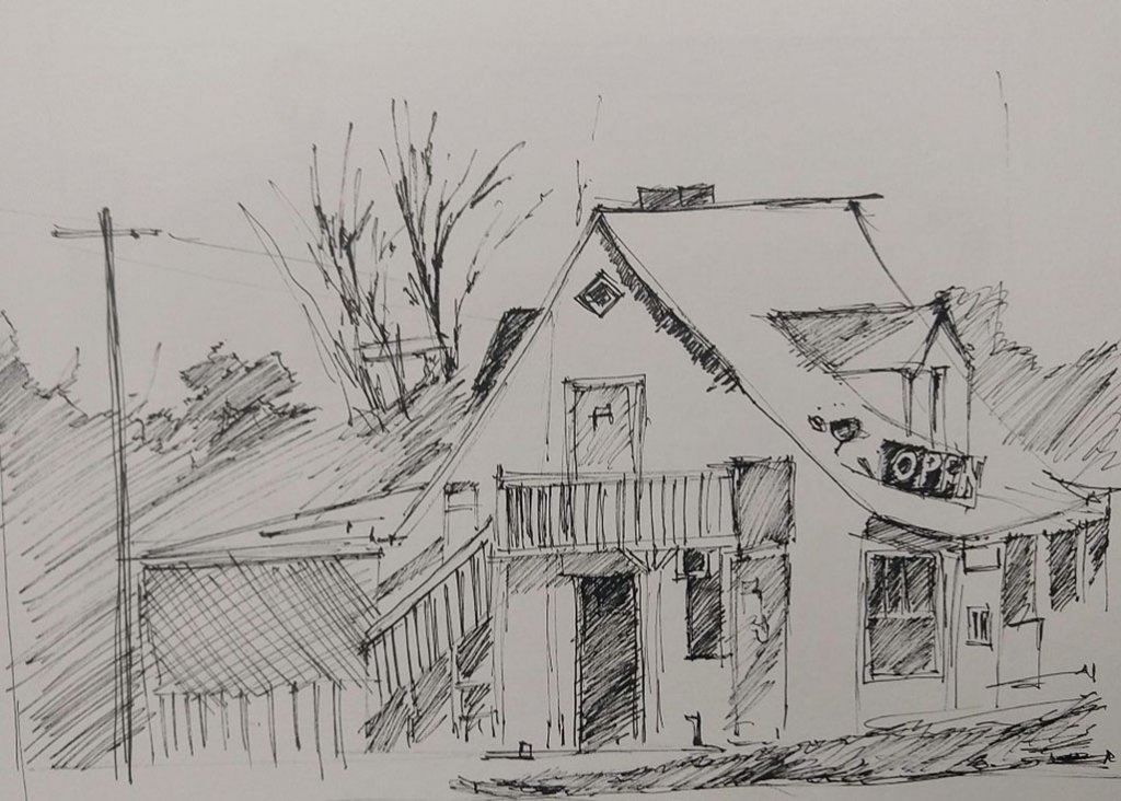 Sketch Drawing Of House