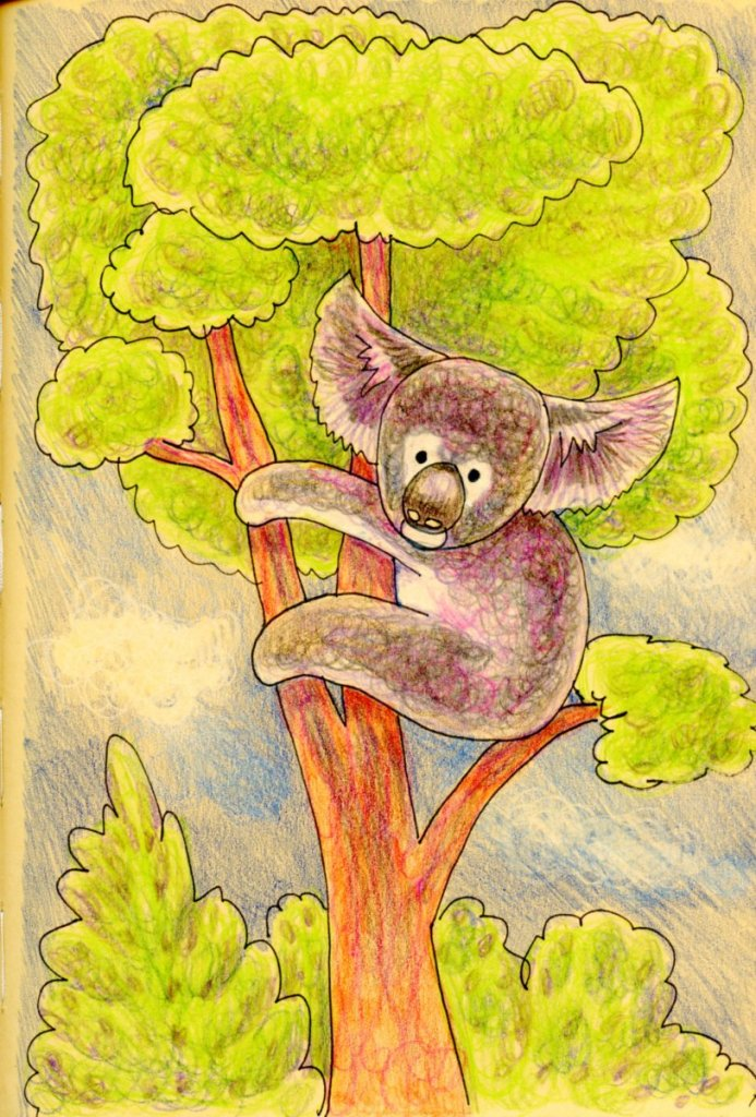 Step-out and example done for my How to Draw a Koala Bear-Fun & Easy Tutorial and Challenge. #Ar