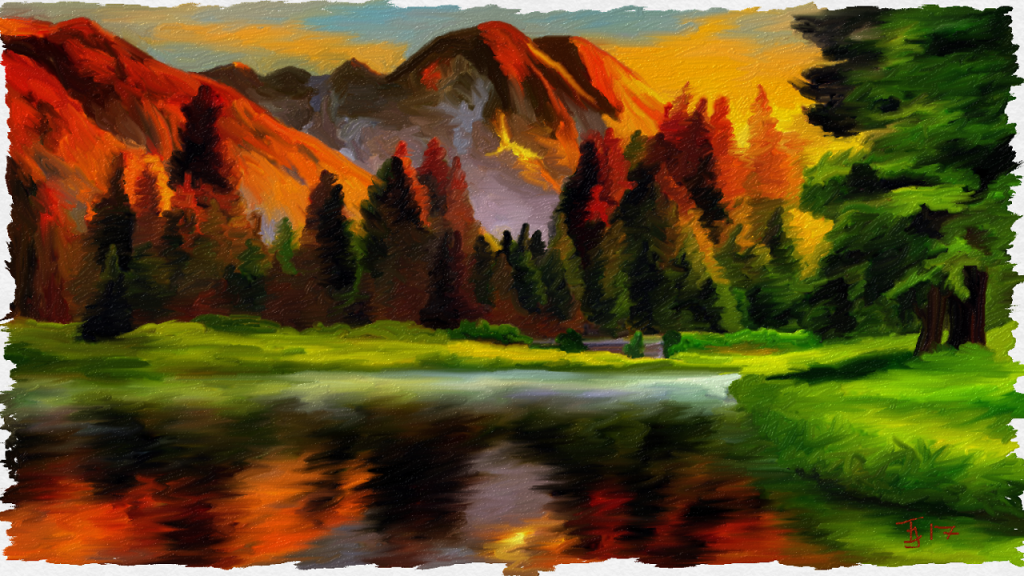 Landscape done in Freshpaint app. This was a prompt pricture, can't remember where the origina