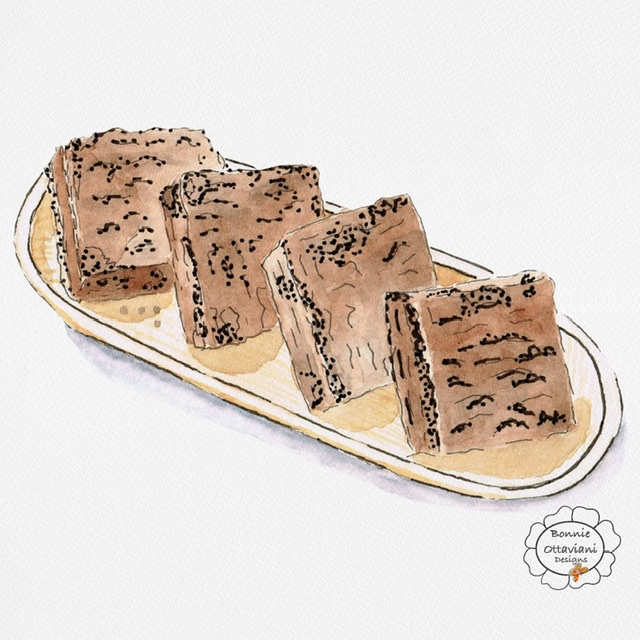 Brownies – Ha, ha… When I showed this to my husband today he asked why there were sesame