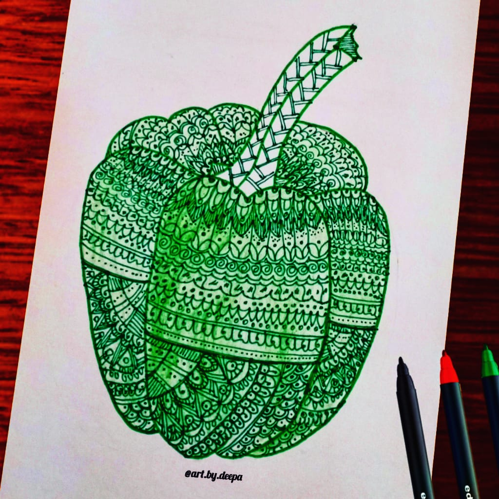 Day 15: Green Pepper #doodlewashjune2020 IMG_20200615_180608_321