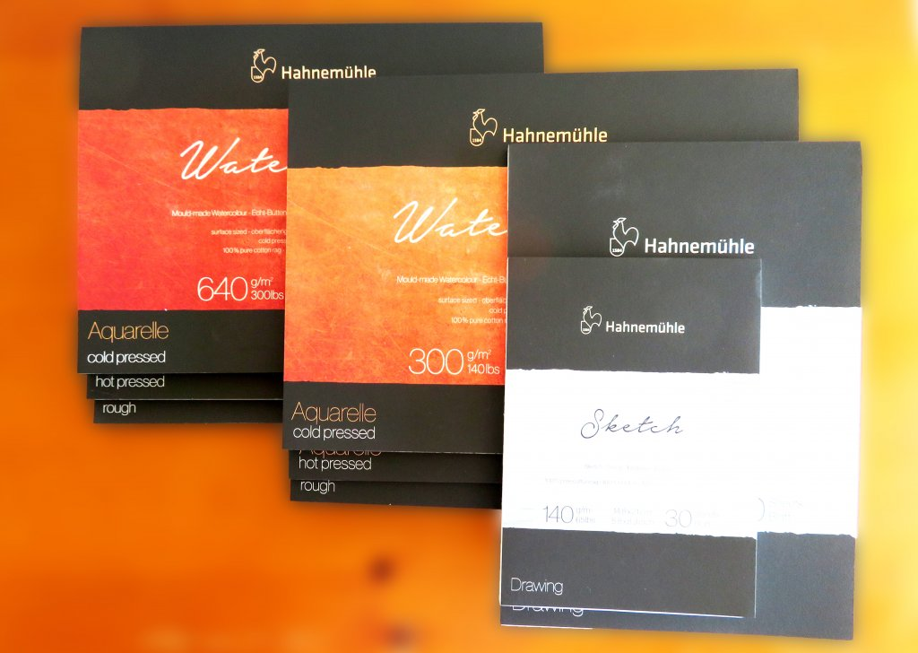 The Collection by Hahnemühle Watercolor Paper Pads and Sketch Pads