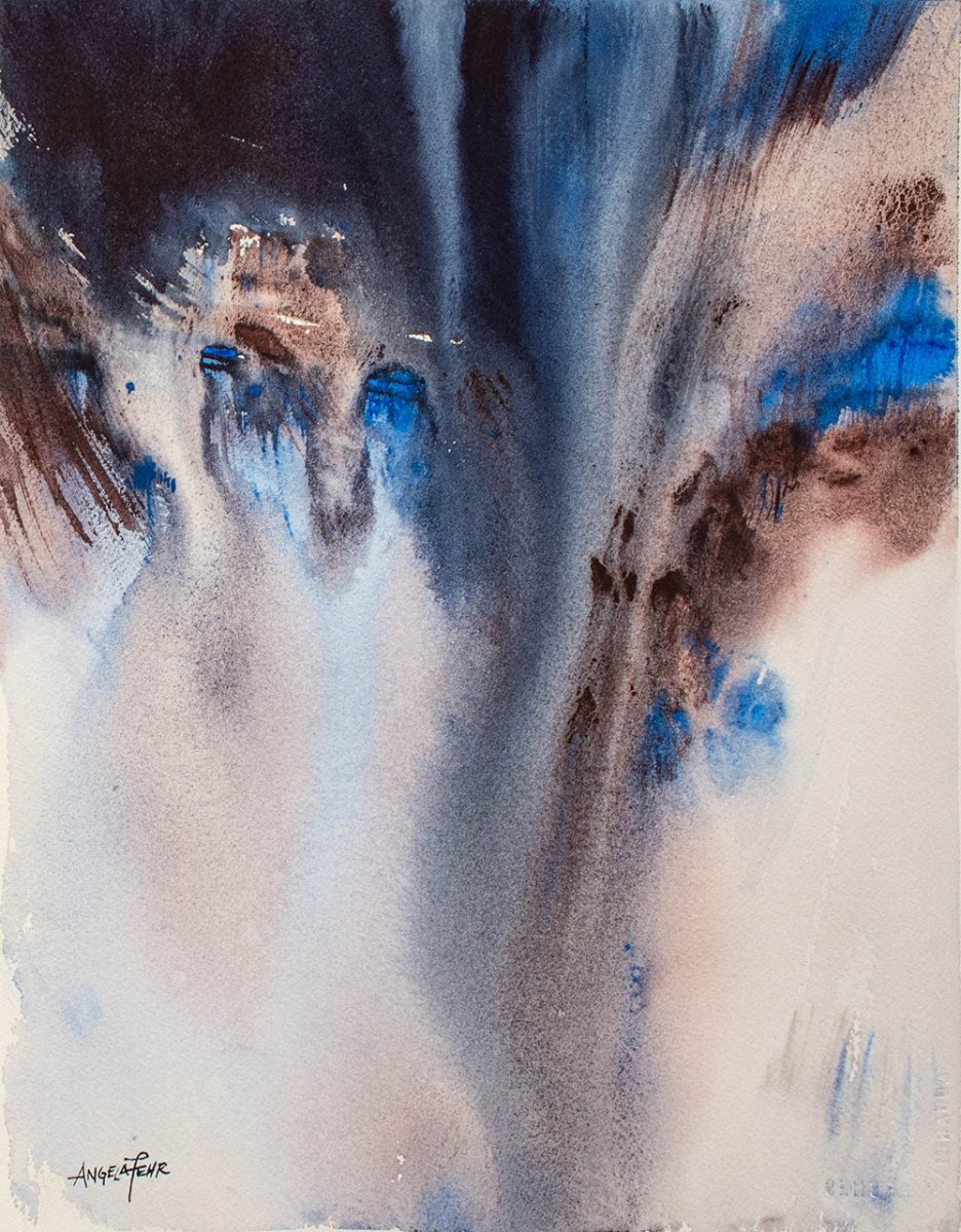 Abstract Watercolor Painting by Angela Fehr