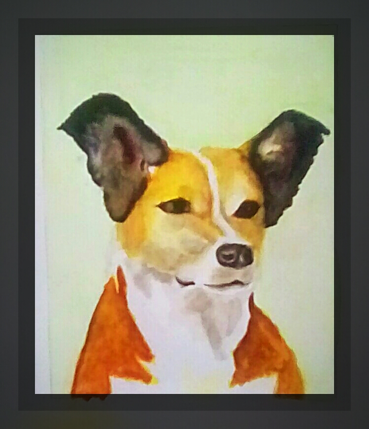 This is my final watercolor painting of Molly for a friend who loss her recently. photostudio_159112