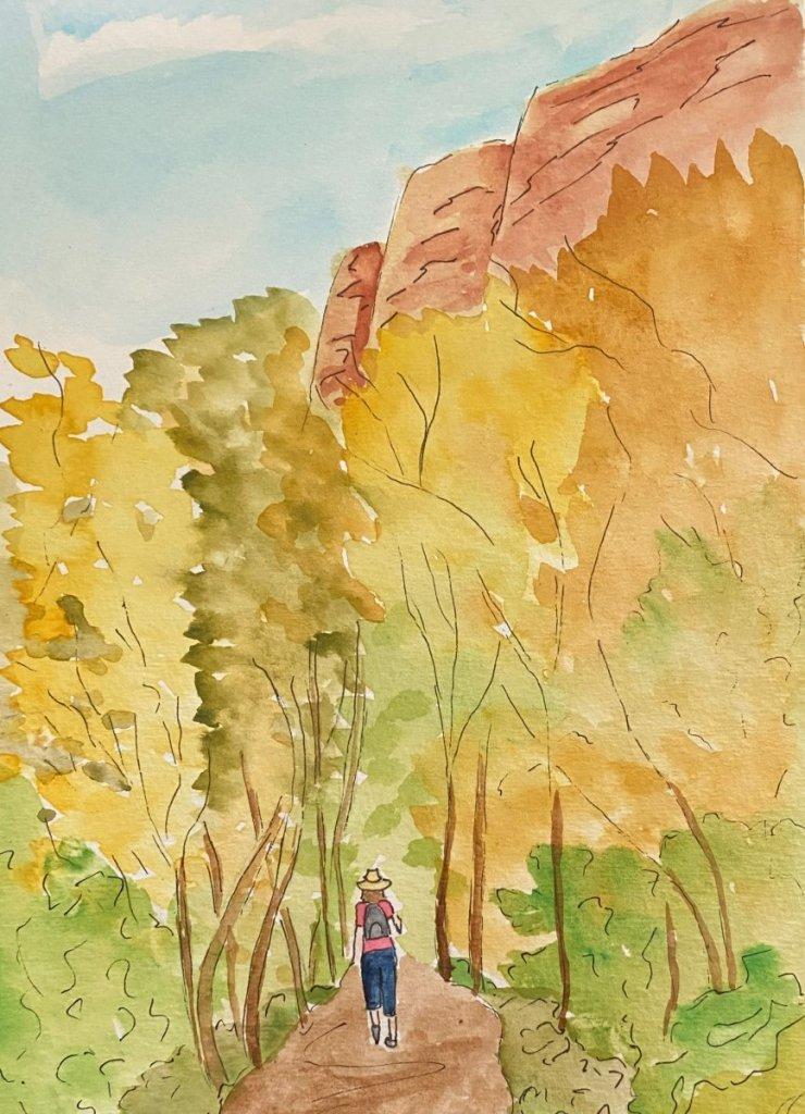 This is me hiking on my favorite trail near Sedona. I have a photo of this but the colors were not t