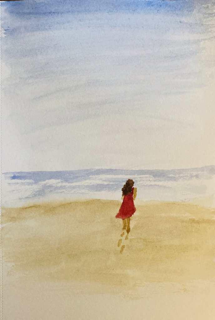 Alone – On the beach. 531173A7-01EB-42BE-8C75-F4CEFA06C94F