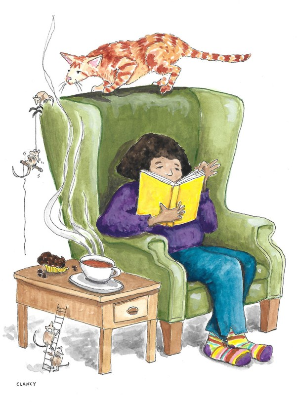 Cat And Mouth Illustration Suspense by Sue Clancy