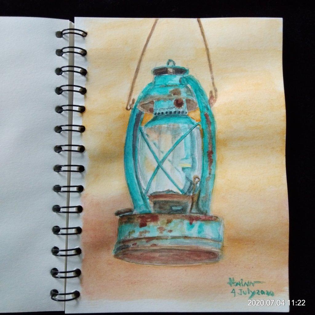 #doodlewashJuly2020 #WorldWatercolorMonth #Beginner #4 #quiet #4July2020 Today prompt is QUIET. Befo