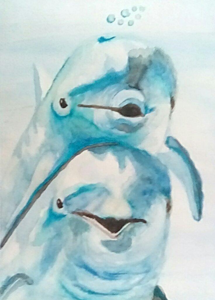 "Today's watercolor challenge ""Playful"" IMG_20200705_112106_hdr_kindlephoto-4075531"