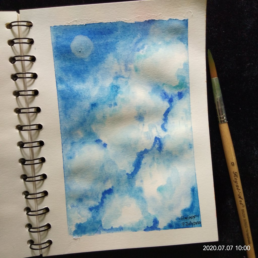 "#doodlewashJuly2020 #WorldWatercolorMonth #Beginner #7 #Free #7July2020 Today prompt is ""Free&"