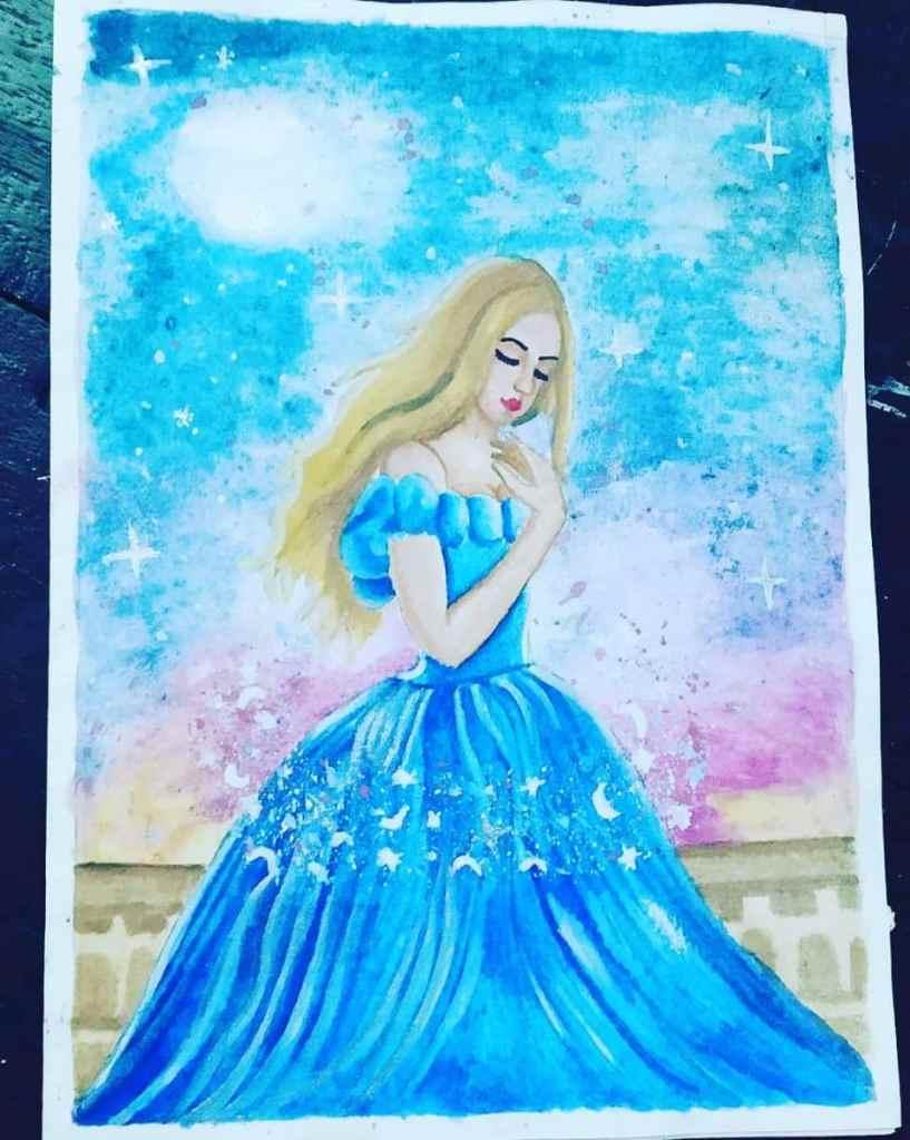 Cinfrella watercolor work! IMG_20200708_001643_567