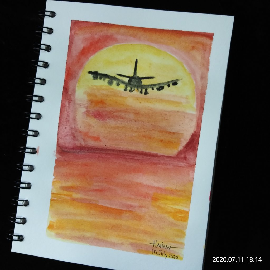 """#doodlewashJuly2020 #WorldWatercolorMonth #Beginner #10 #Fast #10July2020 For """"Fast """" pr"""