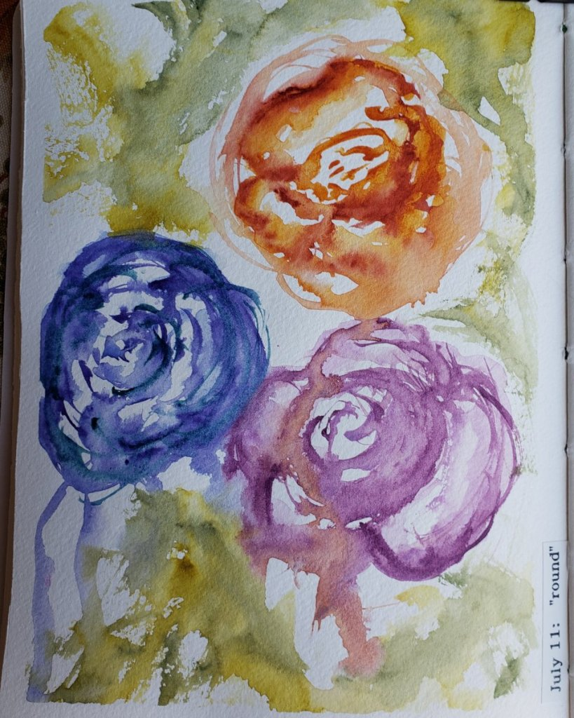 #WorldWatercolorMonth day 11 : round IMG_20200712_145623_506