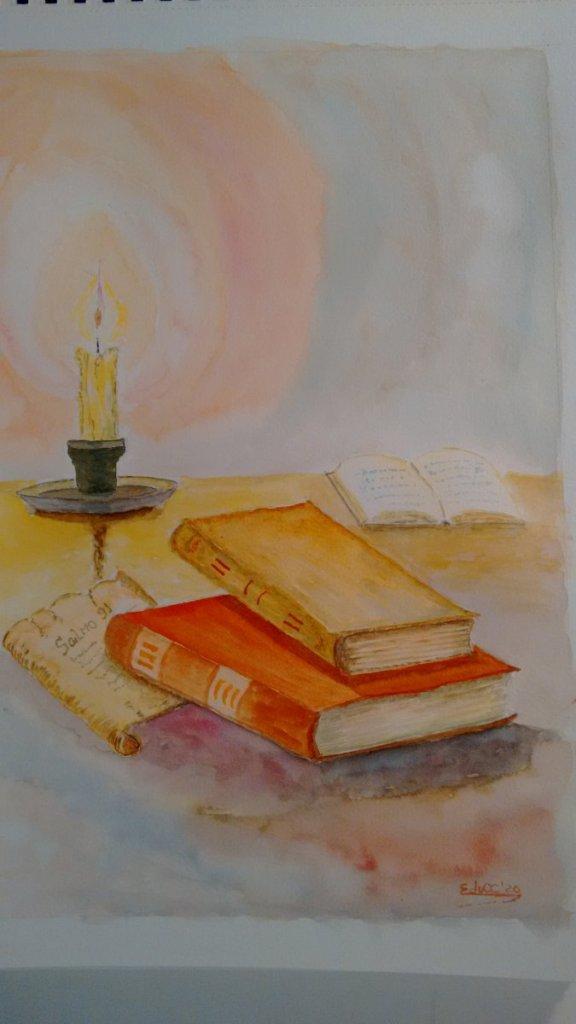 Acuarela, formato A3 grano fino 300g/m2 Los libros olvidados. IMG_20200715_175846708
