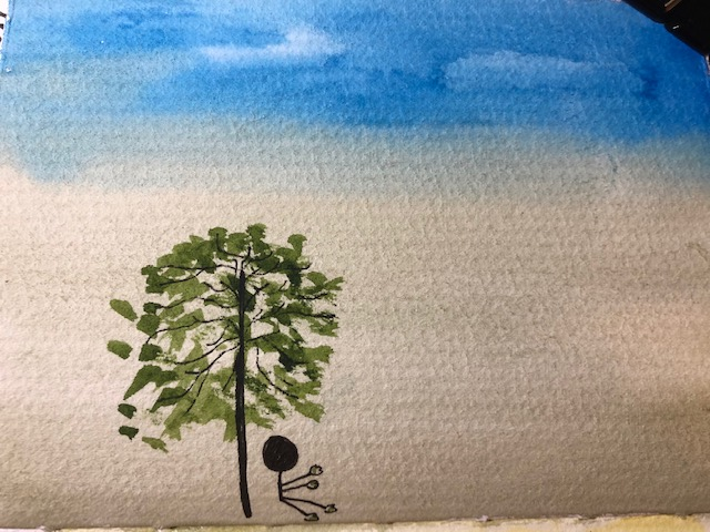 Alone #worldwatercolormonth #worldwatercolormonth2020 IMG_5249