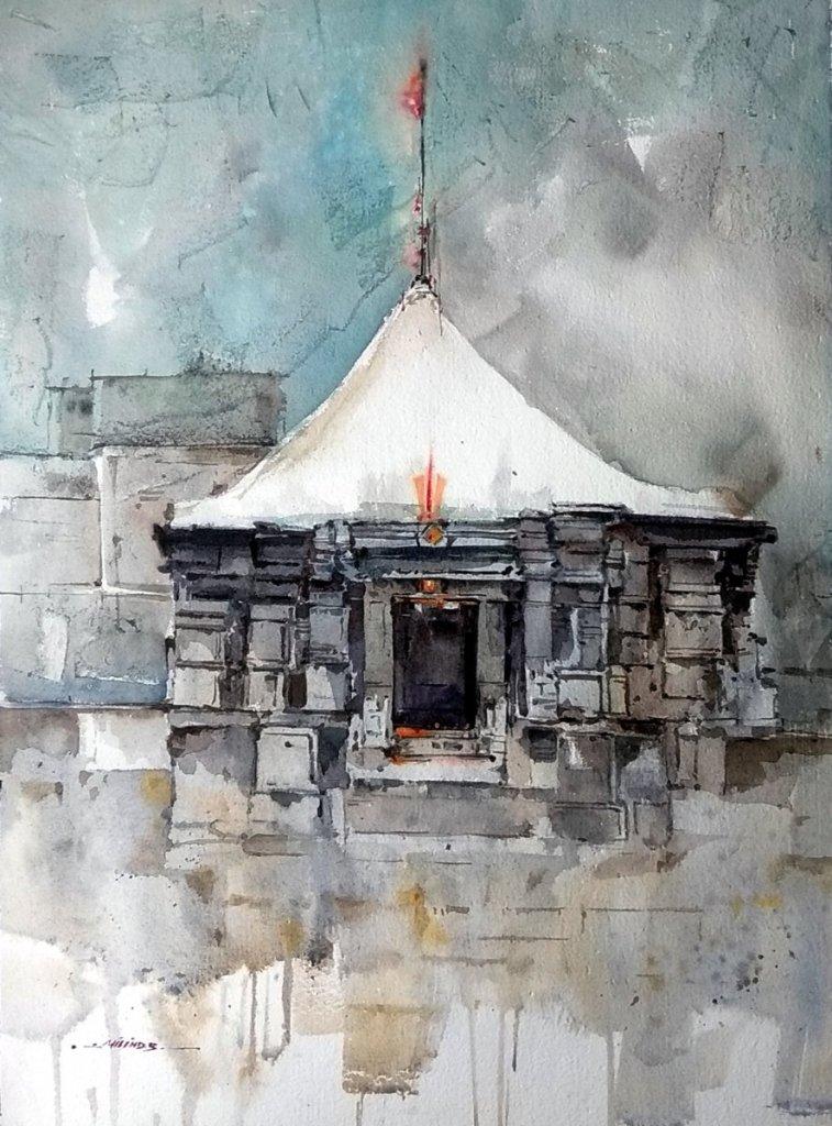 Temple Series: God Vishnu Temple, INDIA I create composition from landscape spot, Its a beautiful ex