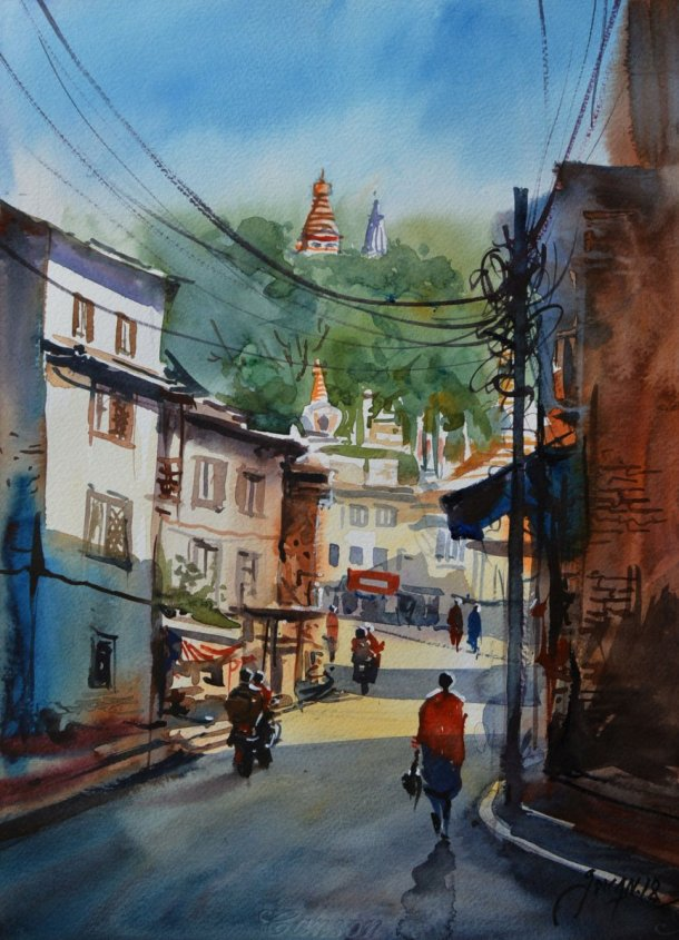 ishan_pariyar_watercolor_on paper_2019