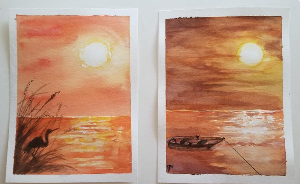 More practice postcards postcard landscapes 2